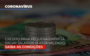 Credito Para Pequena Empresa Pagar Salarios Ja Esta Valendo - Notícias e Artigos Contábeis